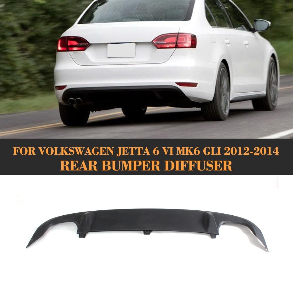 Black ABS Rear Trunk Spoiler Lip Diffuser for Volkswagen VW Jetta GLI Sedan 4 Door 2013 2014 2015 Car Styling carbon fiber front lip spoiler for volkswagen vw jetta gli mk6 sedan 4 door 2013 2015 black frp car styling