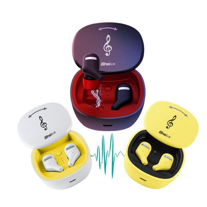 Écouteurs sans fil Bluetooth avec écouteurs sans fil avec étui de charge Bluetooth V5.0 écouteurs sans fil casque Sport Bluetooth