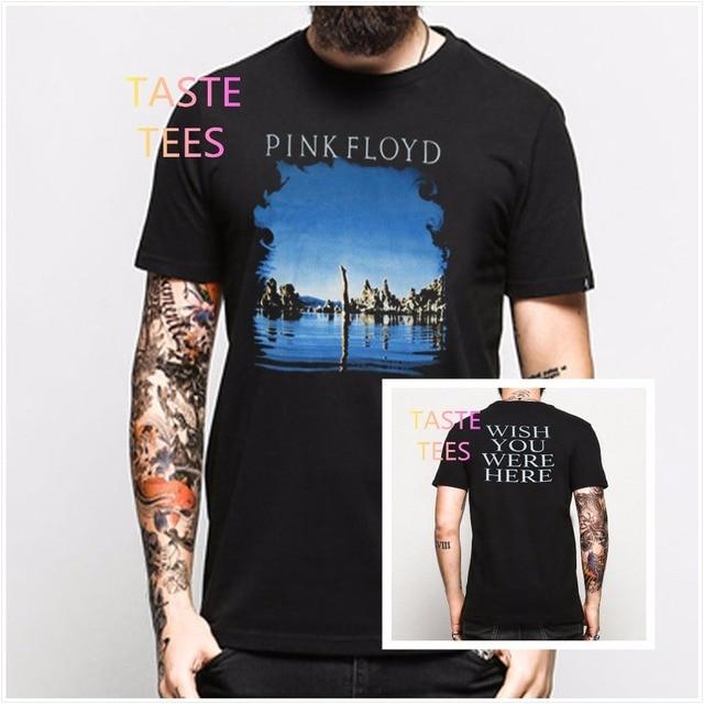 Fashion Harajuku Brand Clothing T Shirt Vintage Mens Band PINK FLOYD O Neck Casual Tshirt Punk Hip Hop Short Sleeve Shirts Top