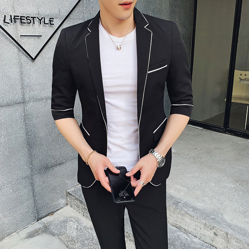 Latest Coat Pants Designs Black Men Suits Business Man Wear Groom Tuxedos Casual Costume Homme 2Piece Slim Fit Jacket Trousers