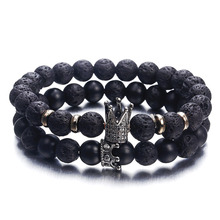 US $0.67 50% OFF|NS63 Hot Trendy Lava Stone Pave CZ Imperial Crown And Helmet Charm Bracelet For Men Or Women Bracelet Jewelry Pulseira hombres-in Charm Bracelets from Jewelry & Accessories on Aliexpress.com | Alibaba Group