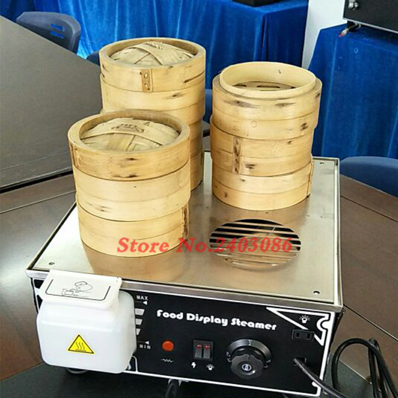 4 bamboo food bun steamer electric mini food warmer machine bread maker food processors 110v 220v