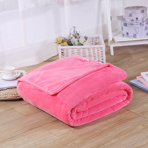 Image 2 - CAMMITEVER 5 Sizes Flannel Solid Color Blanket Sofa Bedding Throws Soft Plaids Winter Flat Bedsheet Home