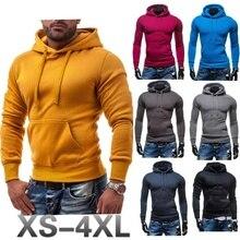 ZOGAA Sweatshirt Men 2019 NEW Hoodies Brand Male Long Sleeve Solid Black Red Big Size Poleron Hombre