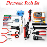 Electronic Tools Set For Electronic Telecommunications Maintenance Multifunction Hand Tool Sets LCD Digital Multimeter