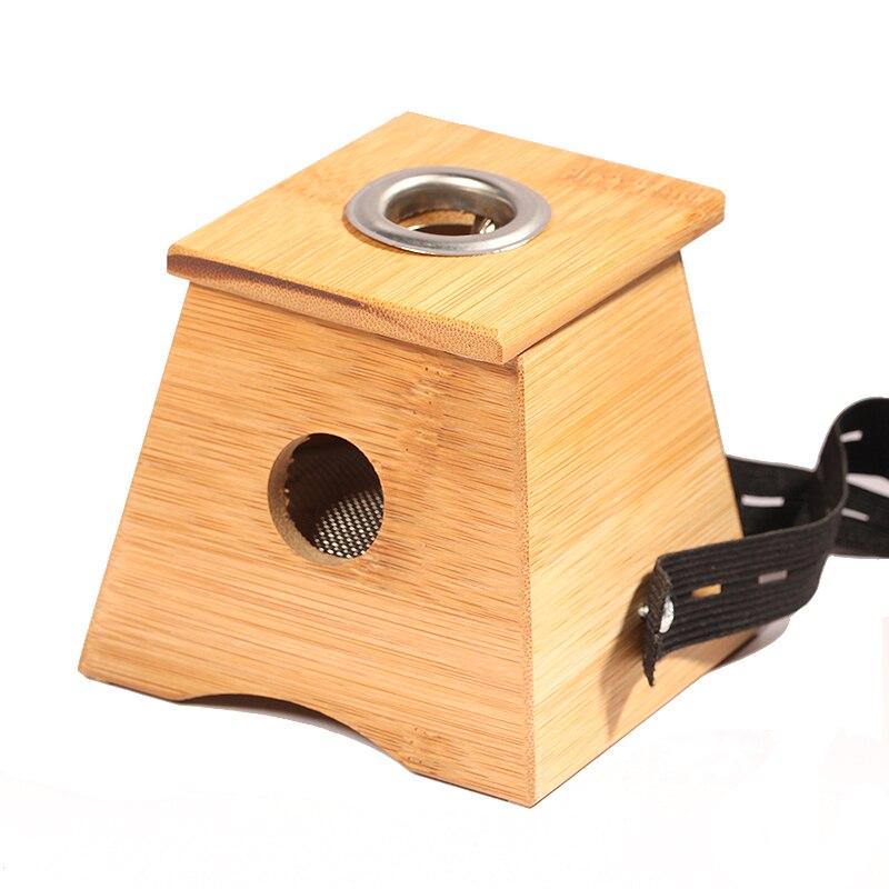 Monocular quemador de moxa caja moxibustión caja moxibustión aparato de bambú de bambú de madera dispositivo de masaje de acupuntura