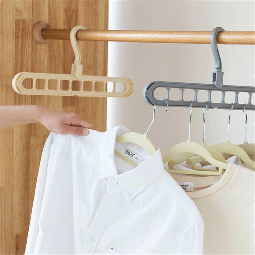 ABFP многопортовая поддержка круг вешалка для одежды сушилка для одежды Многофункциональный Пластиковые Крючки для хранения
