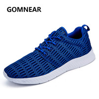 GOMNEAR Running Shoes New Light Weight Mesh Sports Shoes Trendy Jogging Sneakers For Woman Man Autumn