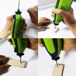 Image 2 - Mini perceuse électrique, outils Dremel, ciseleur pour le perçage, broyage, affûtage, coupe, ciselure, nettoyage, polissage, ponçage