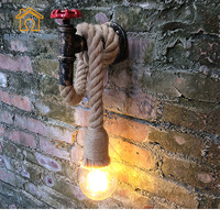 Industrial Twine Wall Lamp Retro Pipe Lights Cafe Restaurant Barbershop Clothing Store Stairs Aisle Corridor BRIGHTINWD