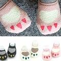 Мальчик и Девочка Носок Новорожденные 0-24 Месяцев Пол Антипробуксовочная Короткие Милые Хлопчатобумажные Носки Младенческой Носок
