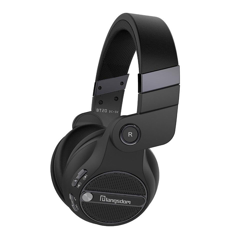 Wireless Bluetooth Headset, Langsdom BT20 Super Deep Bass HiFi Sound Foldable Over-Ear Headphones ,Bluetooth 4.0,Hands-Free mpow wireless bluetooth v4 1stereo headphones in ear crystal sound light neckband headphones earphone hands free calling