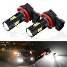 2 шт H8 H11 Led HB4 9006 HB3 9005 туман лампочка 1200LM 6000 K белый вождение автомобиля работает лампа автоматическая светодиодная Свет 12 V 24 V