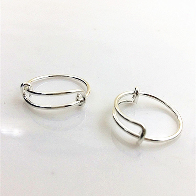 12pcs) Wholesale Handmade Simple Wire Expandable Rings for Women and ...