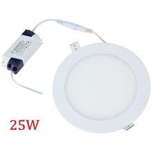 25 светодиодный Вт круглый светодиодный потолочный светильник Встраиваемый лампа для кухни для ванной 85-265 Светодиодный светодиодный свет теплый белый/холодный белый
