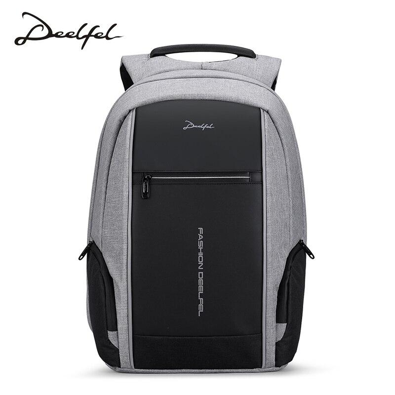 DEELFEL 2018 hommes sac à dos 15.6 pouces sac à dos pour ordinateur portable mode Anti-voleur sacs à dos Designers marque sacs de voyage mochila masculina