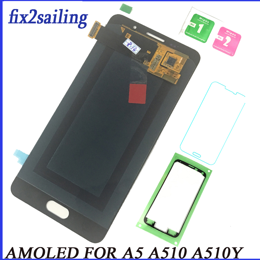 Super AMOLED LCD Display For Samsung Galaxy A5 2016 A510 A510F A510M A510FD A5100 A51 Lcd Screen Replacement Tested Assembly Super AMOLED LCD Display For Samsung Galaxy A5 2016 A510 A510F A510M A510FD A5100 A51 Lcd Screen Replacement Tested Assembly