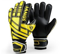 Top quality! JANUS Adult Professional Football Goalkeeper Gloves Soccer Glove Keeper Finger Protection,Free shipping