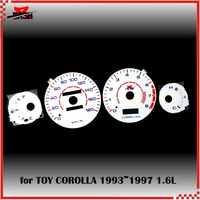 DASH EL Glow Gauge for COROLLA 1993 1997 1.6L Reverse Glow White face Blue Green Lighting 180 KM 8000 RPM