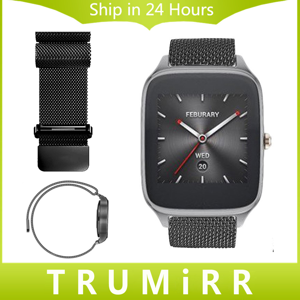 22mm Milanese Loop Band for ASUS Zenwatch 2 22mm LG G Watch W100/W110/W150 Pebble Time Stainless Steel Watch Bracelet Link Strap 22mm milanese loop band magnetic buckle strap for asus zenwatch 2 lg g watch w100 w110 w150 pebble time stainless steel bracelet