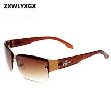 Zxwlyxgx clássico vintage óculos de sol masculino marca nova condução óculos de sol