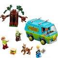 2016 la máquina del misterio, scooby doo bus bloques de bloques de construcción diy bebé juguetes para niños de regalo compatible con 10430