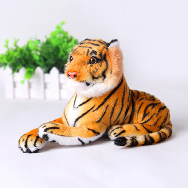 Cute Kids Plush Toys Yellow White Tiger Animal Toys Lovely Stuffed