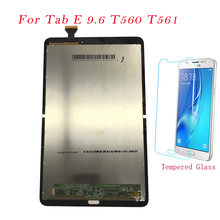 Tes Tablet Kasus untuk Samsung Galaxy Tab E 9.6 SM-T560 SM-T561 T560 T561 LCD Display Touch Screen Digitizer Frame Perakitan t560(China)