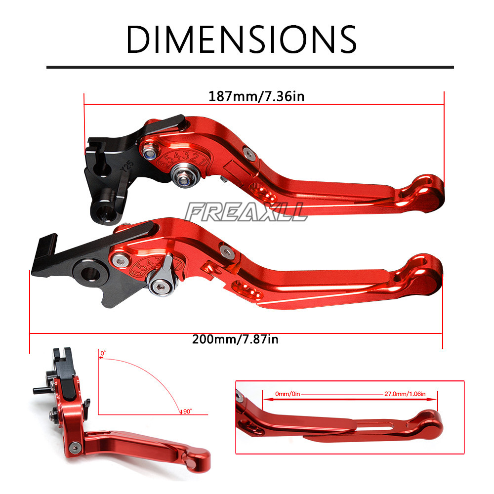 For Kawasaki Z1000 2003 2006 2007 2016 2017 2018 Aluminum Motorbike Levers Motorcycle Brake Clutch Levers Foldable Extendable in Levers Ropes Cables from Automobiles Motorcycles