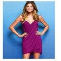 Vestido de verano 2016 Sexy sin respaldo Sling correa mujeres del vestido del v-cuello de la playa vestido ropa Robe Femme Vestidos 16166