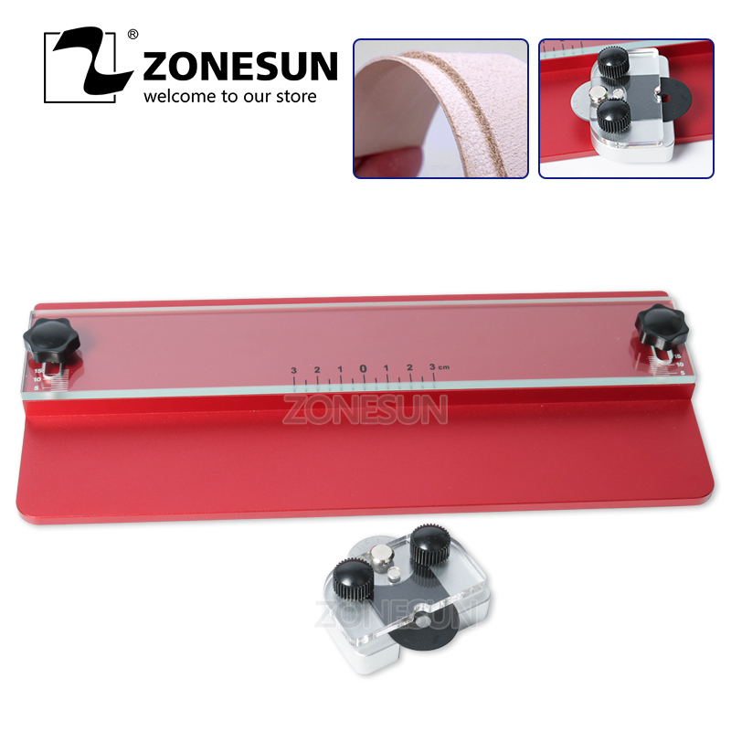ZONESUN Leather Cutting Machine Tool Knife Cutter Edge Cutting For Leather Handcraft DIY Wallet Handbag Name Card Holder Purse