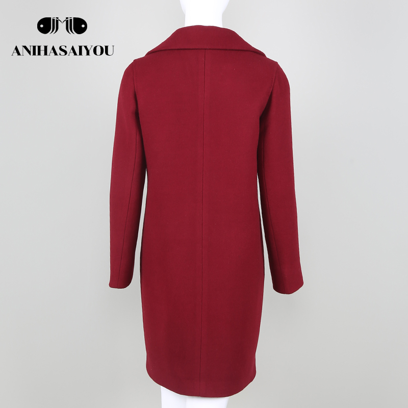 Trend Brand Design Autumn And Winter Coat Women Wool Coat Long Womens Cashmere Coat European Fashion Jacket Outwear Streetwear