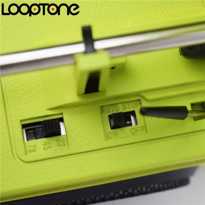 LoopTone 33/45/78 RPM Vinilo LP Reproductor de discos tocadiscos - Audio y video portátil - foto 5