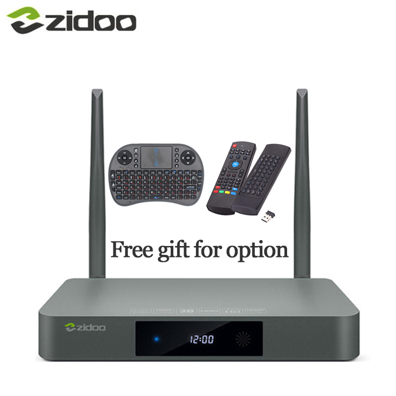 X9S Zidoo Airmouse Teclado ou HDMI CAIXA de TV Android 6.0 16G com EUA UE Rússia Aisa IPTV Filme Pré-instalar kodi construir addon