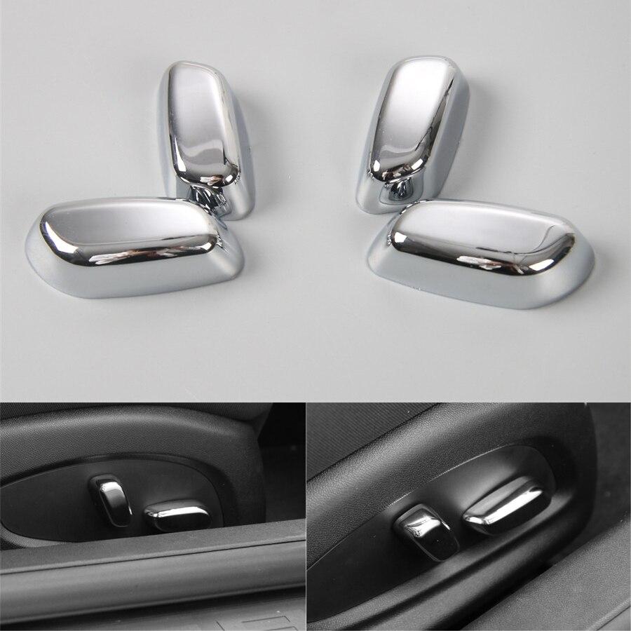 YAQUICKA For Chevrolet Camaro 2017 ABS Car Interior Seat Adjust Button Switch Decoration Cover Cap Trim
