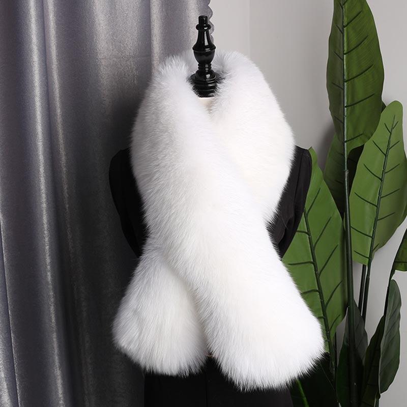 fox skin scarf big size white (3)