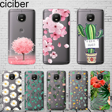 цена ciciber Plants Cactus For Motorola Moto C Z2 Z3 ONE P30 G4 G5 G5S G6 E3 E4 E5 Play Plus Power M X4 Phone Case Silicone TPU Capa онлайн в 2017 году