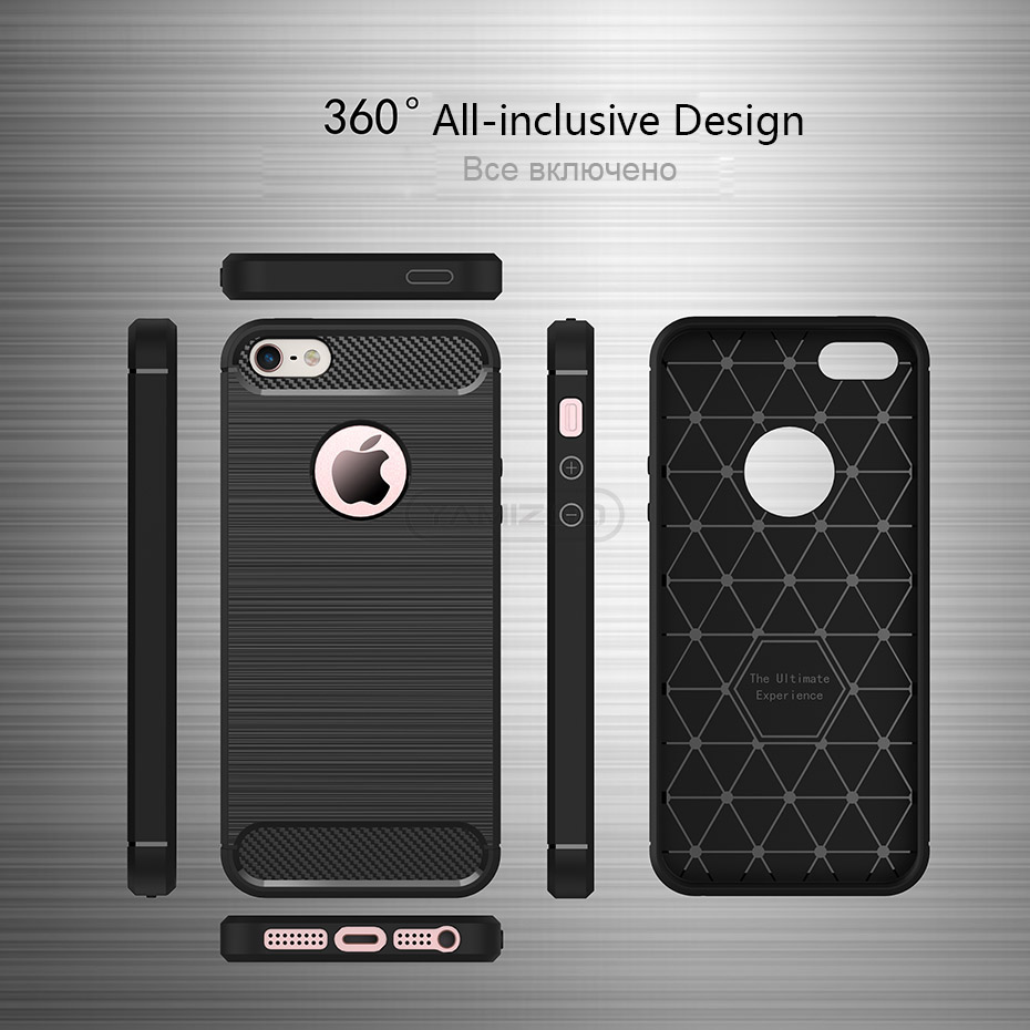 YAMIZOO Back Cover For iPhone se 5 5s Case Silicone Soft Thin Coque Red Black Phone Cases For iPhone 5s se 5 Carbon Case Luxury (15)