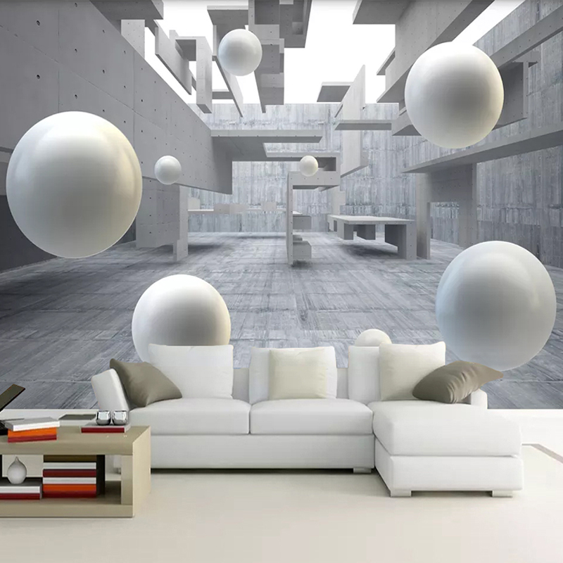 Custom Photo Wallpaper 3D Abstract Space Circle Ball TV Background Mural Wall Painting Living Room Decor Self Adhesive Wallpaper