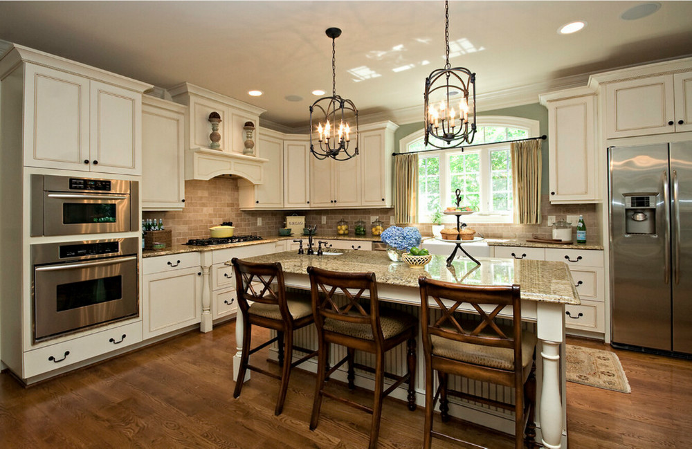 2017 New Design Customized American Solid Wood Kitchen Cabinets With