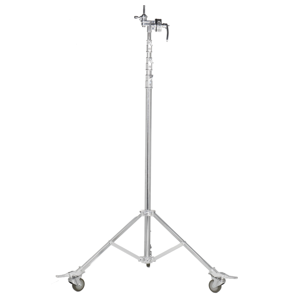 ASHANKS B305A Overhead Roller Light Stand 5.8m 4 Sections 3 Risers with Big Grip Head 5/8'' 16mm 28mm Stud & Socket Load to 30KG ashanks 5 8m 19ft roller light stand tripod for photography studio video lighting with grip head 5 8 stud