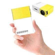 Прямая поставка YG300 YG-300 ЖК светодиодный портативный проектор мини 400-600LM 1080p видео 320x240 пикселей медиа светодиодный плеер
