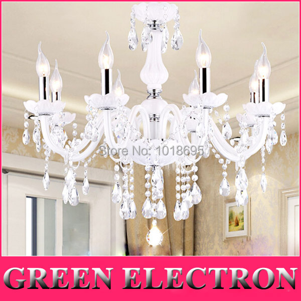 European K9 Crystal Lamps Home Lighting lustres de cristal Decoration White Crystal Pendant Lights Glass Living Room Indoor Lamp hot selling perforated lustres de teto european luxury double helix stair pendant lights 100% crystal guarantee