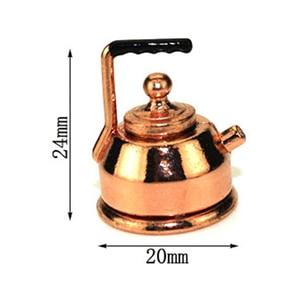 Image 3 - 1/12 בית בובות מיניאטורות אביזרי קומקום סימולציה ריהוט תה סיר מטבח דגם ריהוט צעצועי בובת בית קישוט