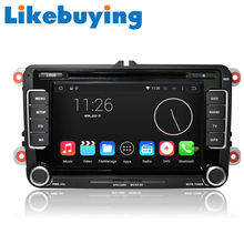 Likebuying  Car 2 Din 1024*600  Android 4.4.4 QUAD CORE  16G DVD GPS Radio Stereo Navigator for  VW  MK6 MK5  CC SCIROCCO SHARAN