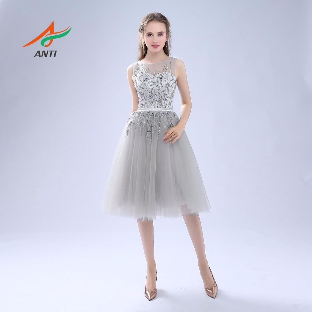 ANTI Luxury 2017 Robe De Cocktail Klänningar Ärmlös Tulle För - Särskilda tillfällen klänningar - Foto 3