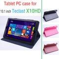 Para Flip Utra Delgada Funda de piel para Teclast Teclast X10HD X10 HD Octa Core 2015 Nuevo Caso de 10.1 pulgadas Tablet PC Teclast X10HD