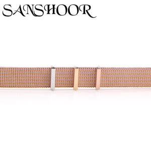 SANSHOOR Stoppers Slide-Charms Bracelets Mesh Jewelry Accessories-Making Rubber Keeper