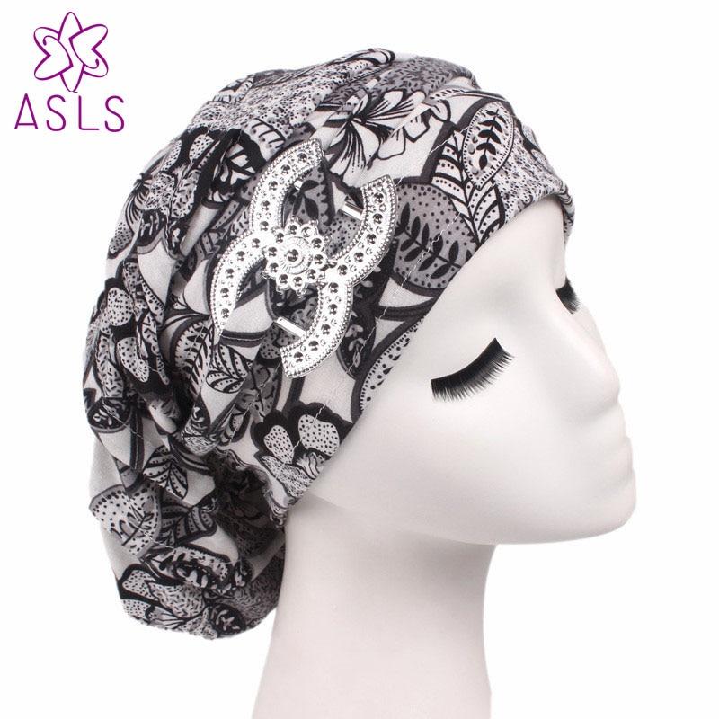 The Cheapest Price Fash Cotton Floral Dreadlocks Braids Cap Comfortable Slouchy Baggy Hat Chemo Cap Bandana Hair Loss Bonnet Tube For Women Apparel Accessories