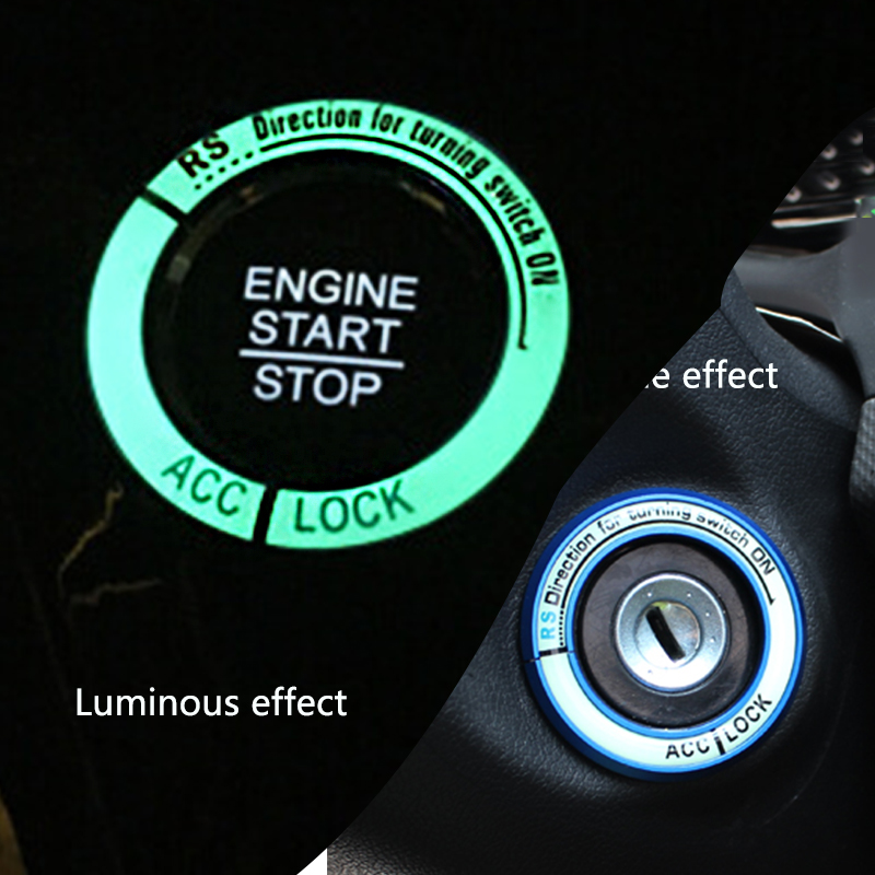 Image 2 - Luminous Key Ring Decor Sticker Auto Accessories Motorcycle Lgnition Switch Cover Auto Interior Protective Sticker Car Styling-in Car Stickers from Automobiles & Motorcycles